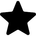 Favourites filled star symbol
