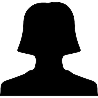 Female student silhouette