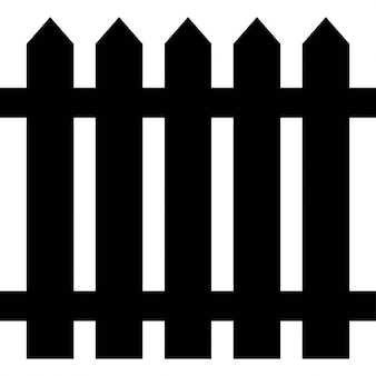 Fence of wood, silhouette