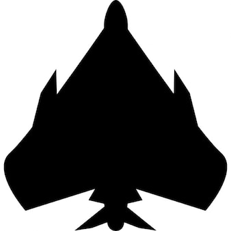 Fighter plane bottom view silhouette