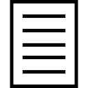 File interface symbol with text lines