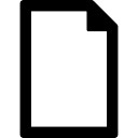 File outlined blank paper sheet