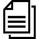 Files symbol of double paper sheet