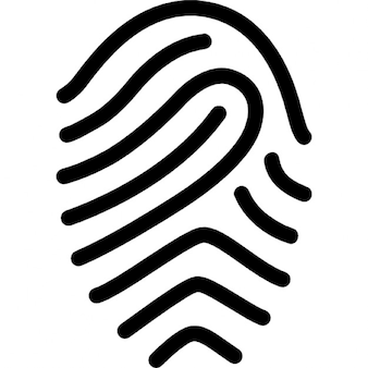 Fingerprint simple outline