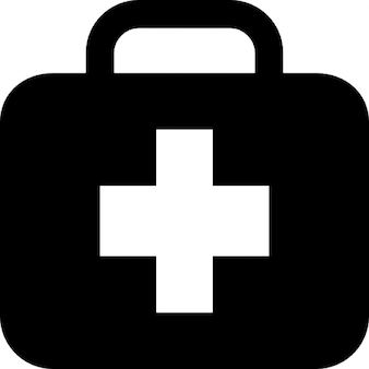 First aid kit in briefcase