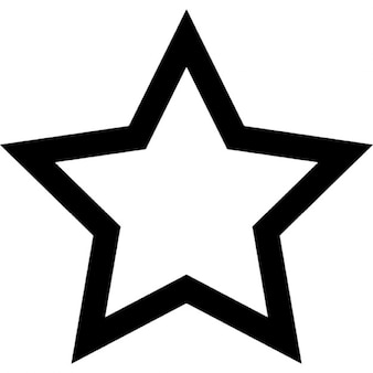 Five pointed star outline