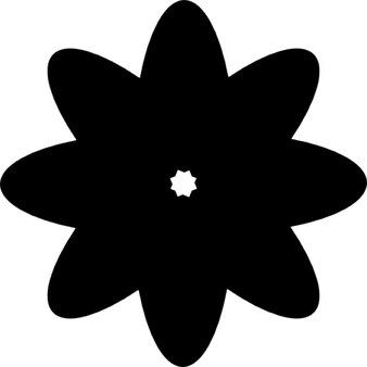 Flower silhouette with multiple petals