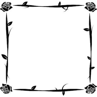 Flowers thin ornamental frame
