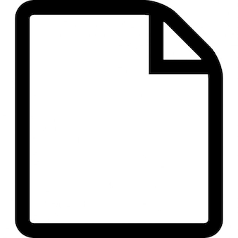 Folded blank page