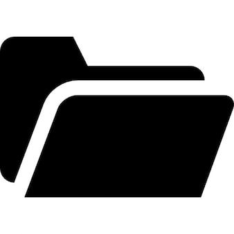 Folder black open shape