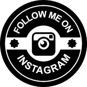 Follow me on instagram retro badge