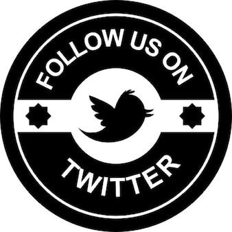 Twitterのレトロバッジ上で私たちに従ってください