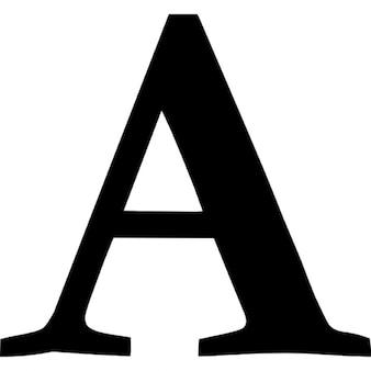 Font symbol of letter A