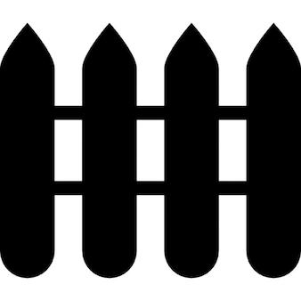 Four fences silhouette