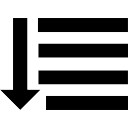 Four horizontal lines with down arrow