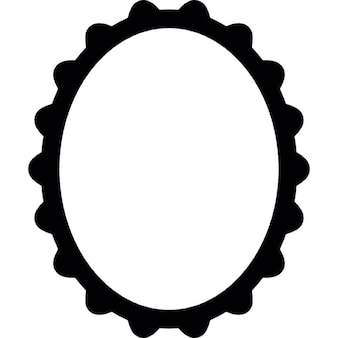 Frame of oval shape and vintage style