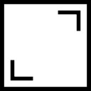 Frame square button symbol of interface for images