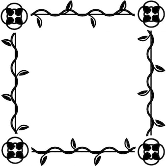 Frame square of floral design