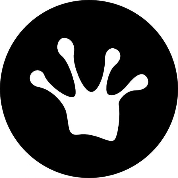 frog footprint vectors photos and psd files free download rh freepik com Turtle Footprints Bunny Footprints