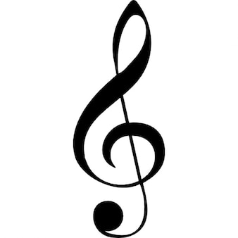 G clef musical note