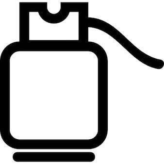 Gas cylinder outline