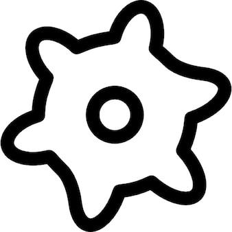 設定用のギアアウトラインインタフェースシンボル