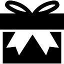 Gift box with big ribbon bow