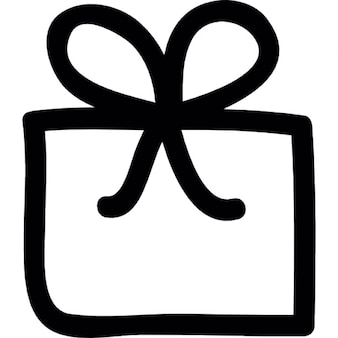 Gift box with ribbon doodle