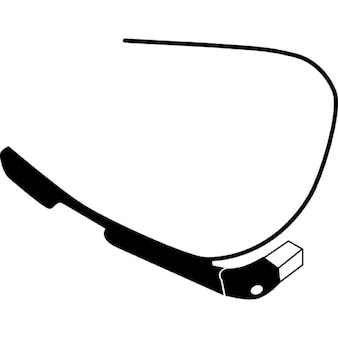Google glasses bottom view