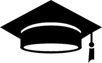 Graduation hat in solid black