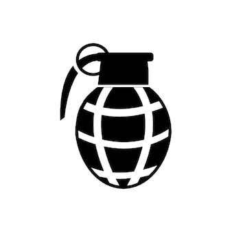Grenade black icon vector