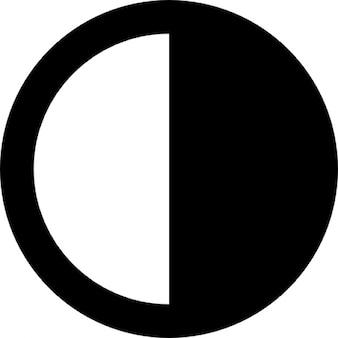 Half-filled circle