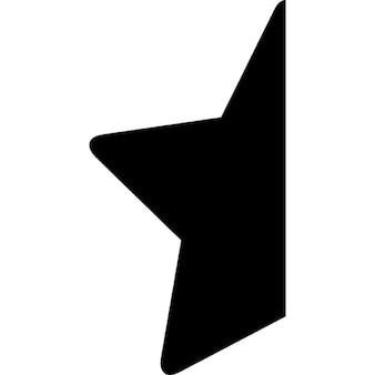 半分の星形