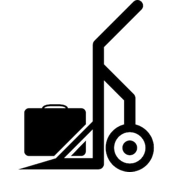 Hand truck with a suitcase
