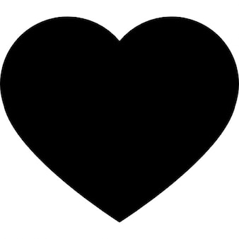 Heart black shape for valentines