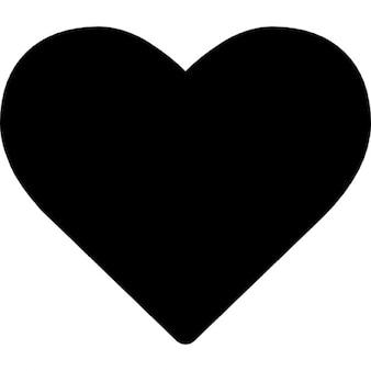 Heart shape silhouette