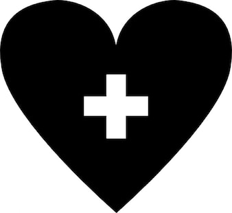 Heart with addition symbol