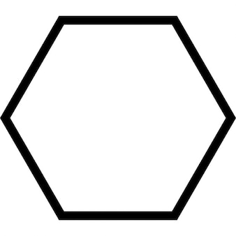 Hexagon geometrical shape outline