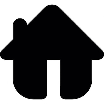Home in black rounded shape variant