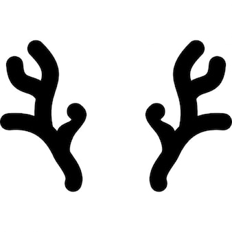 Horns of Christmas reindeer