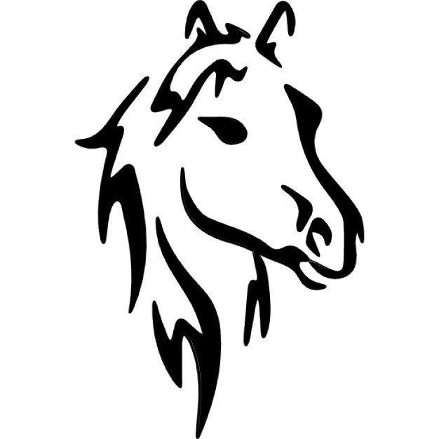 Horse face art sketch