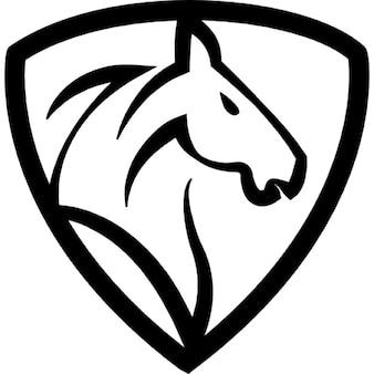 Horse head in a shield