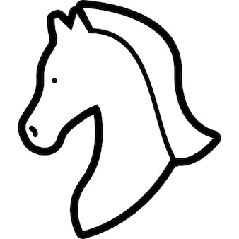 Horse head outline facing the left