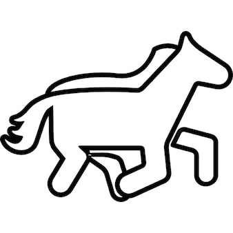 Horse outline cartoon