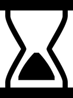 Hourglass. vintage clock