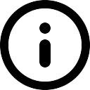 情報円形ボタンシンボル