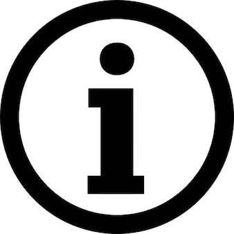 Information logotype in a circle