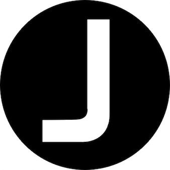 J capital letter in a circle