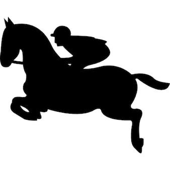 Jumping Horse With Jockey