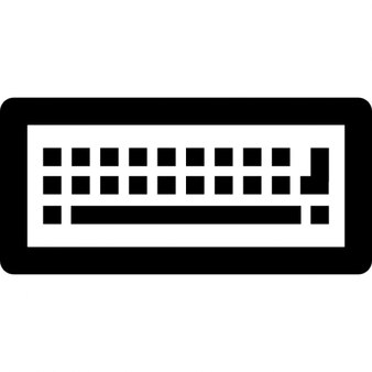 Keyboard from top view with buttons and bar